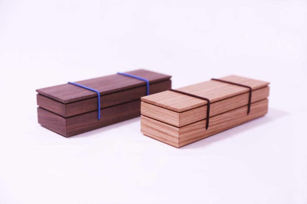 實木鉛筆盒胡桃木與橡木版本