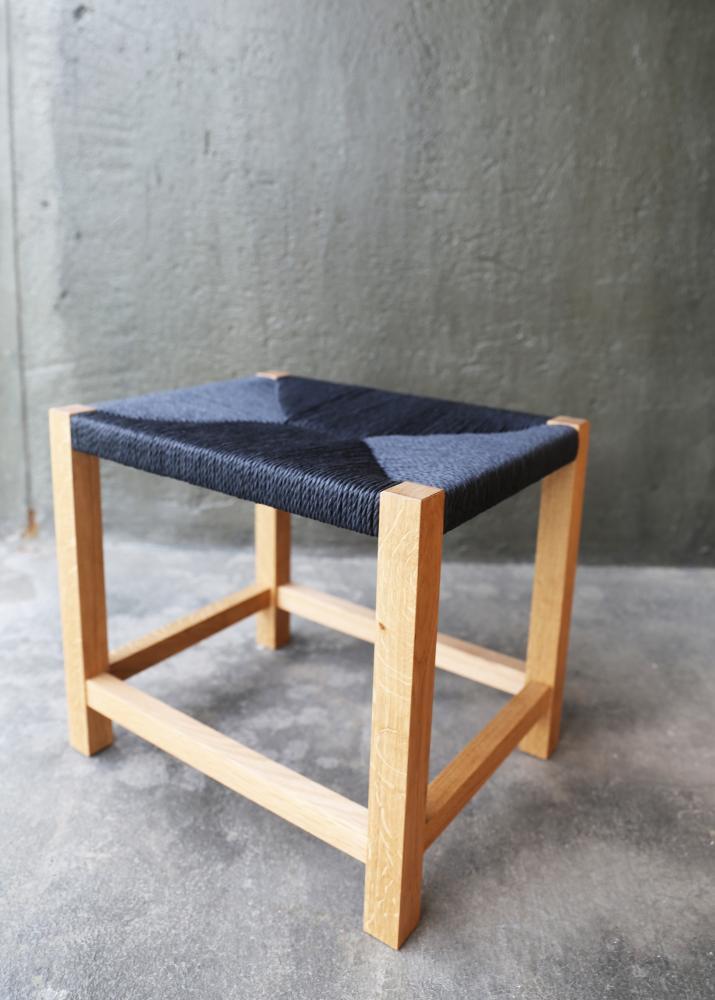 橡木編織椅實品照
